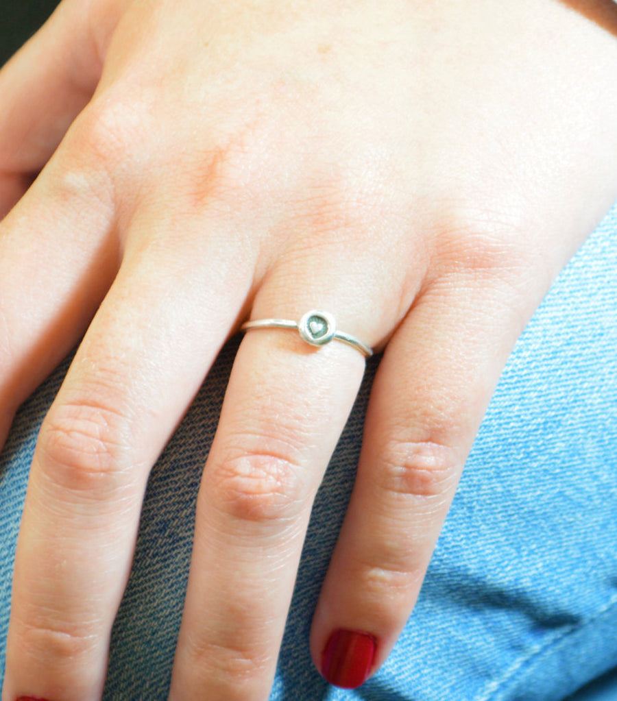 Sterling Silver BoHo Heart Ring