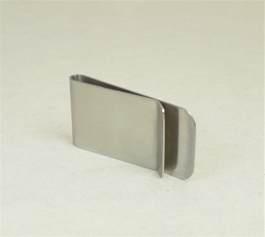 Monogram Stainless Steel Money Clip