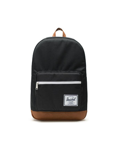 HERSCHEL - Pop Quiz Backpack Color: Blacl/Tan synthetic leather