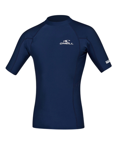 O'Neill Basic Skins Short Sleeve Rash Vest - Navy
