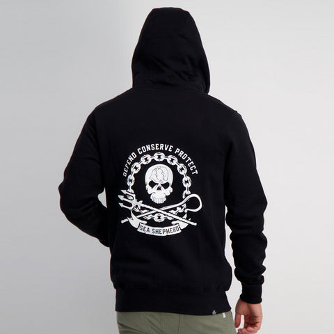 SEA SHEPHERD - Circle Of Strength Fleece Hoodie - BLACK
