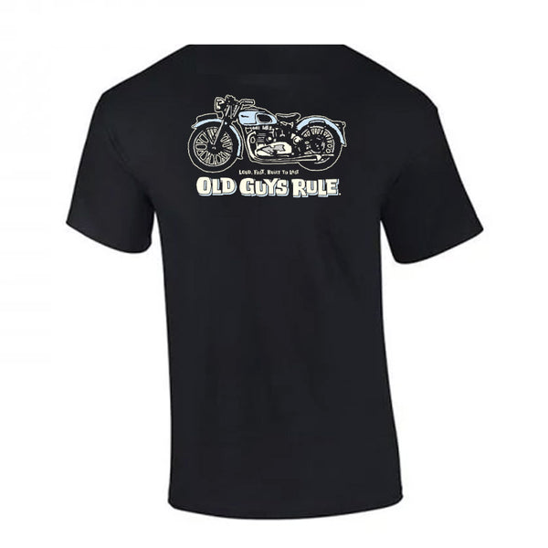 OLD GUYS RULE - Triumph - BLACK
