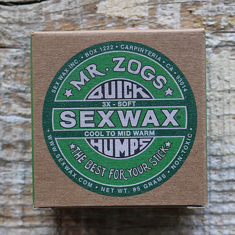 MR ZOGS - Sexwax Quick Humps Surf Wax - ECO BOX