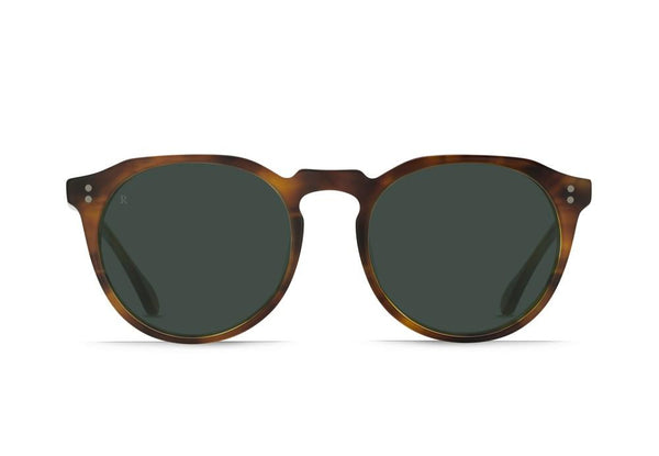 RAEN - Remmy Unisex Retro-Round sunglasses -  Split Finish Rootbeer / Green