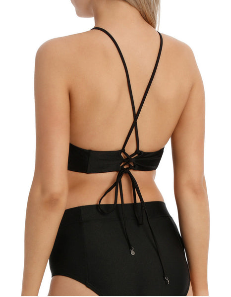 ALL ABOUT EVE - Eve Crop - BLACK