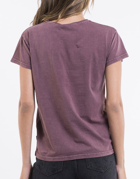 SILENT THEORY - Polly Acid tee Burgundy