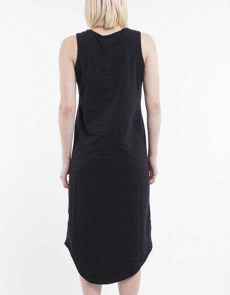 SILENT THEORY - One In Eight Midi Dress - BLACK