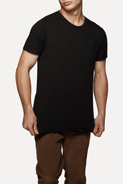 INDUSTRIE -  New Basic Crew Tee - Black