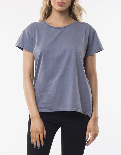 SILENT THEORY - Polly  Tee - DENIM BLUE