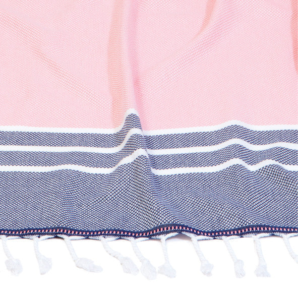 TURKISH MURKISH - Coolum Towel – Pink & Navy