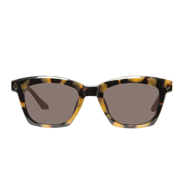 VALLEY EYEWEAR - HUTCH - Yellow Tort w Gold Metal Trim/Brown Lens