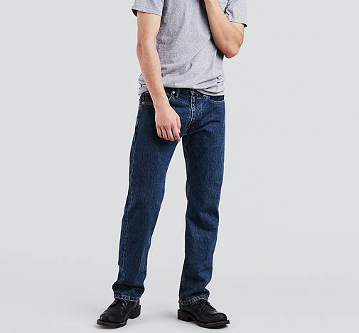 LEVI'S - 505 Regular Fit Workwear Jeans - DARK STONEWASH