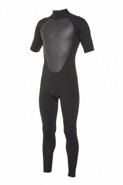 O'Neill - Defender Short Sleeve 2mm Steamer Back Zip Wetsuit - Black