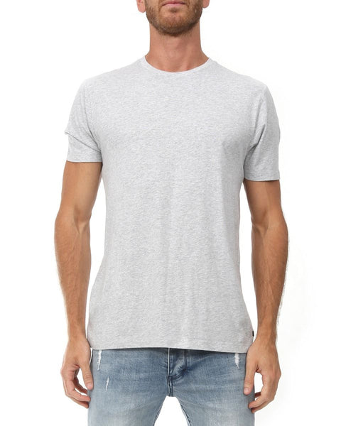 INDUSTRIE -  The New Basic Crew Tee - LIGHT GREY MARLE