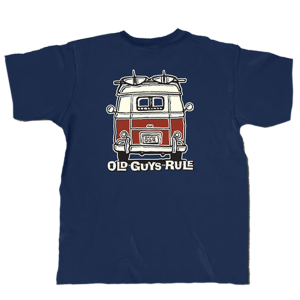 OLD GUYS RULE - Good Vibrations Tee Navy