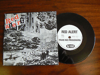 "Red Alert 7"" single Take no prisoners UK No future 1st press PUNK KBD Oi ISD"