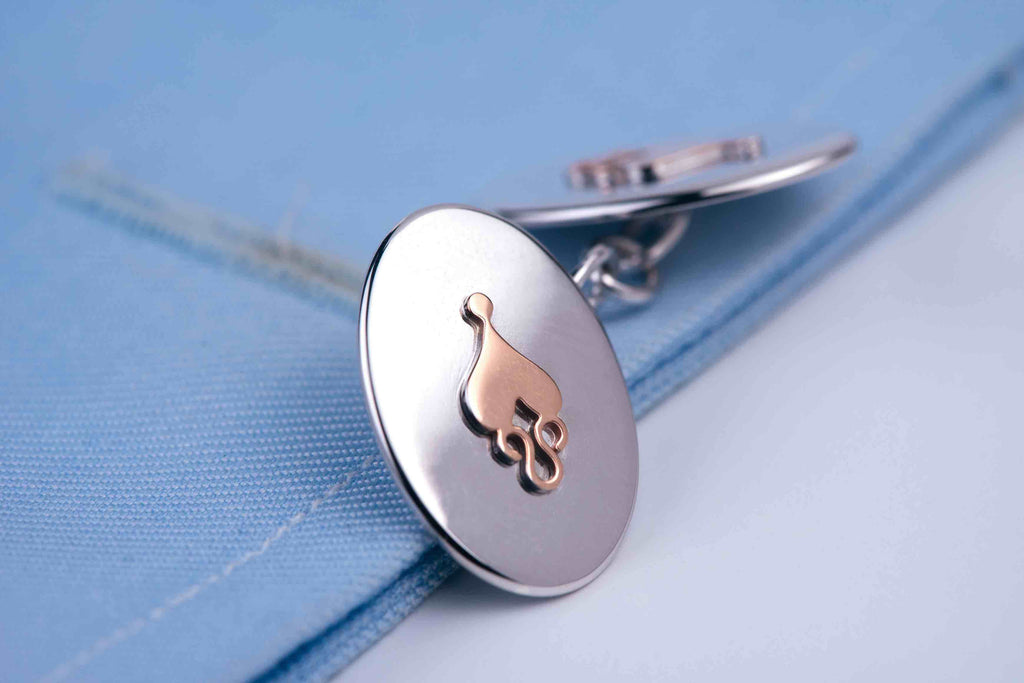 Exclusive Unisex Cuff Links made in Sterling Silver and Gold