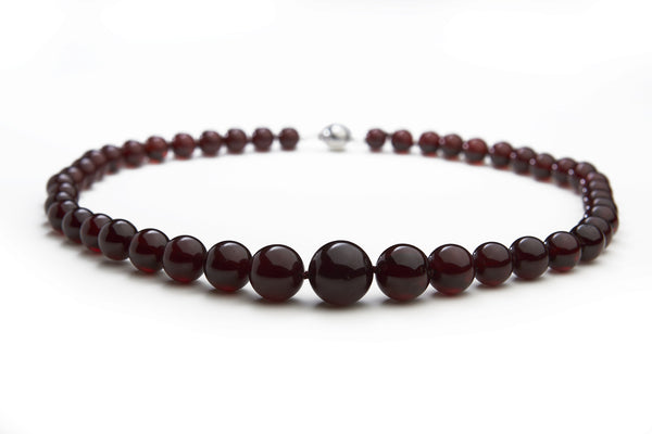 Graduated Garnet Necklace