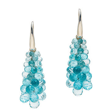 Blue Topaz Blossom Earrings