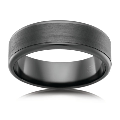 Black Zirconium Modern Ring