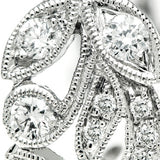 White Gold Diamond Filligree Ring