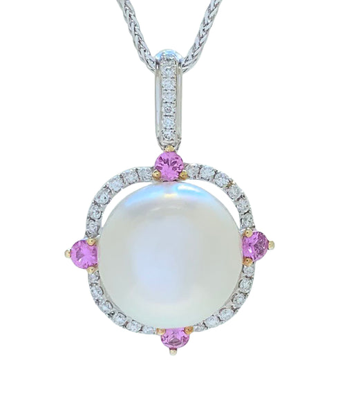 Large Rose-White Saltwater Pearl from Broome Pendant