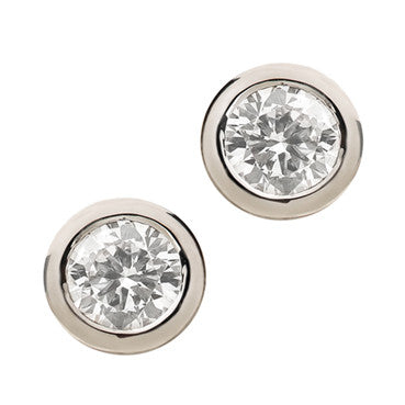 cut stud union w diamond gold set earrings white princess bezel