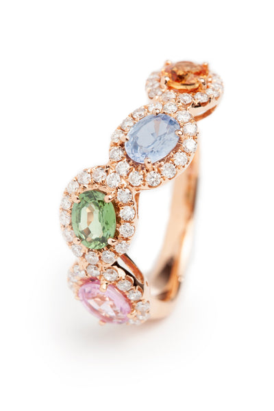Pink gold and Fancy Sapphire Ring.
