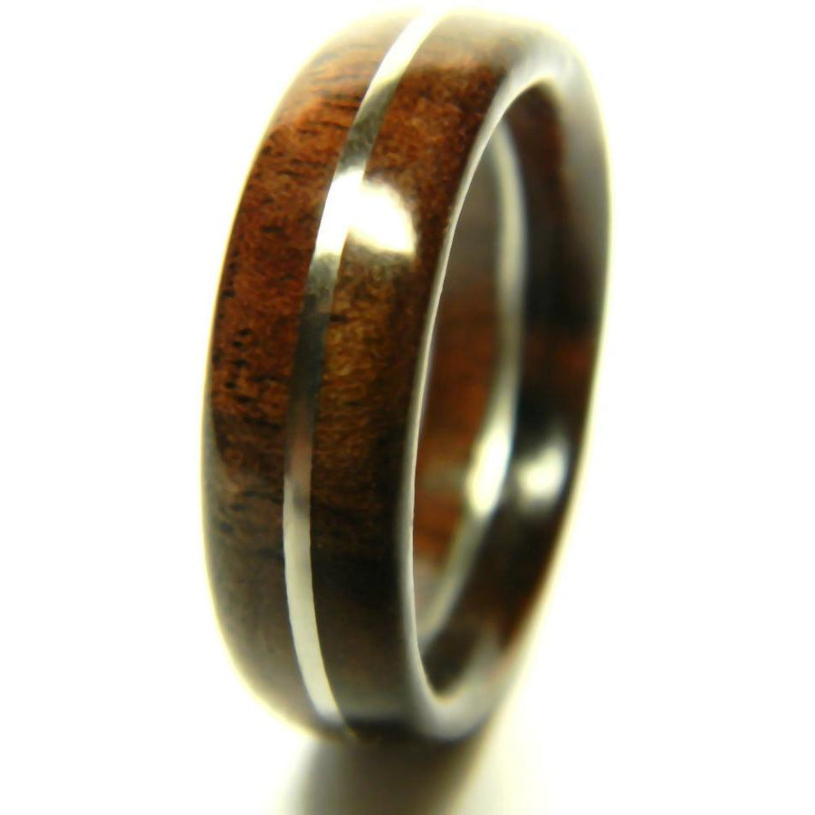 Men\'s Wood Wedding Band - Hand Crafted with Rich Walnut and Ebony