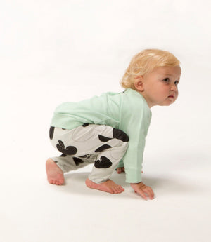LEGGINGS | APPLES | COTTON (WHITE) - Cooper's Crib
