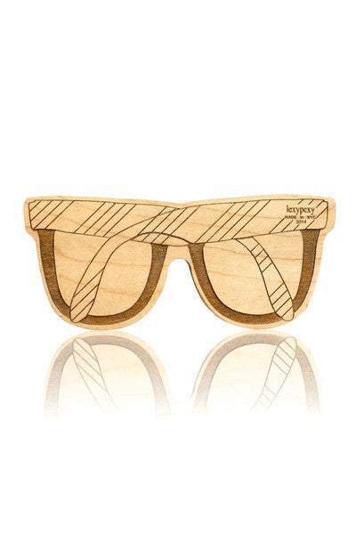 SUNGLASS TEETHER | LEO | MAPLE WOOD - Cooper's Crib