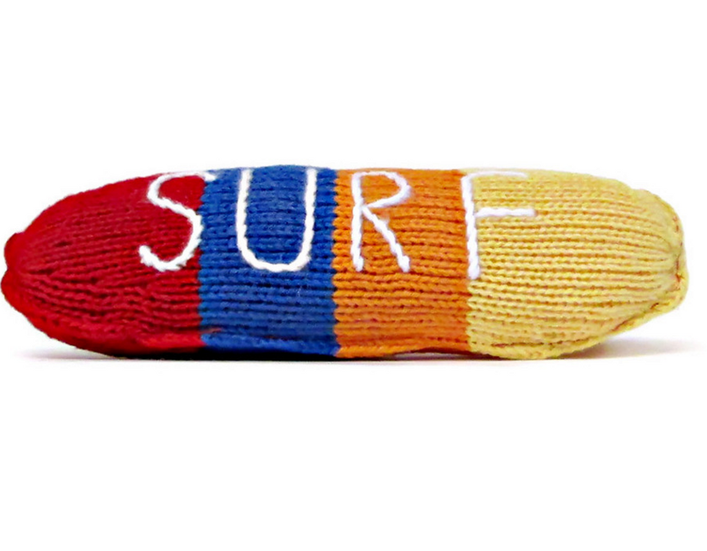 SURFBOARD RATTLE | ORGANIC COTTON - Cooper's Crib