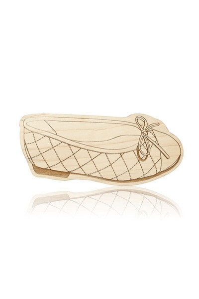 BALLET FLATS TEETHER | WREN | MAPLE WOOD - Cooper's Crib