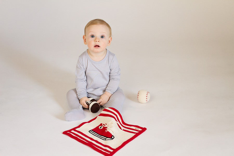 SNEAKER SECURITY BLANKET | ORGANIC COTTON - Cooper's Crib