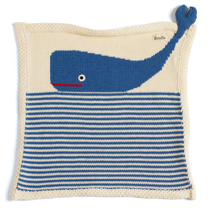 WHALE SECURITY BLANKET | ORGANIC COTTON - Cooper's Crib