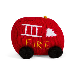 FIRETRUCK RATTLE | ORGANIC COTTON - Cooper's Crib