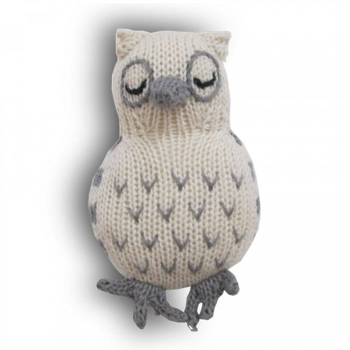 OWL RATTLE | ORGANIC COTTON - Cooper's Crib