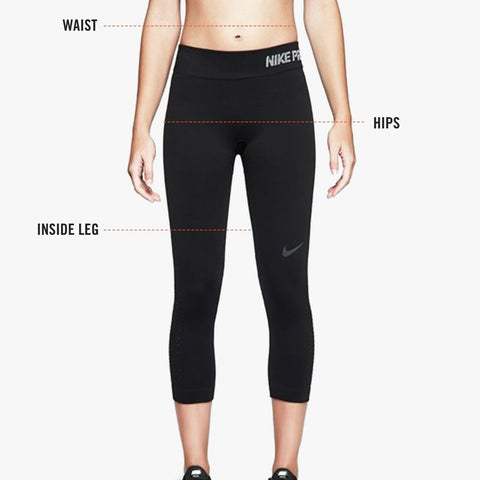 Measuring size for Nike women's bottoms