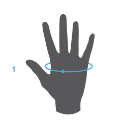 Measuring hand circumference for adidas goalkeeper gloves