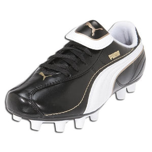 Puma - Puma Esito XL i FG Jr (Black/White/Team Gold) - La Liga Soccer