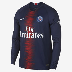 Nike - Men's Nike Breathe Paris Saint-Germain Long-Sleeve Home Stadium Jersey - La Liga Soccer
