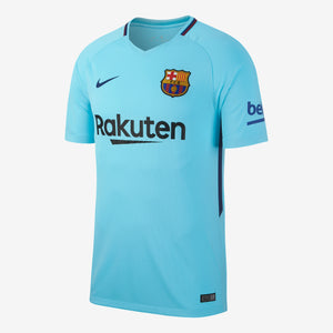 Men's Nike Breathe FC Barcelona 2017/18 Away Stadium Jersey