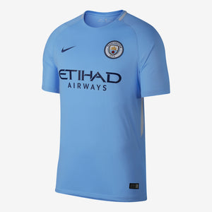 Nike - Men's Nike Breathe Manchester City FC 2017/18 Home Stadium Jersey - La Liga Soccer