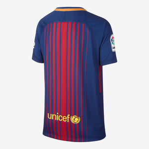 Kids' Nike Breathe FC Barcelona 2017/18 Home Stadium Jersey