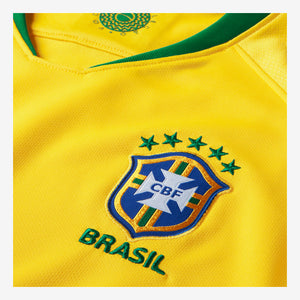 Women's Nike Breathe Brasil CBF Stadium Home Jersey