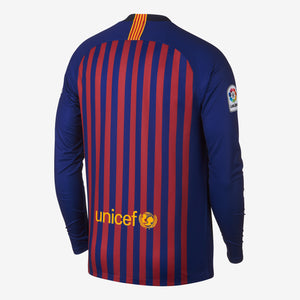 Men's Nike Breathe FC Barcelona Home Long-Sleeve Stadium Jersey