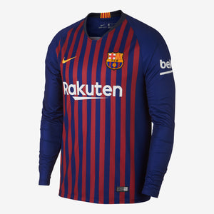 Nike - Men's Nike Breathe FC Barcelona Home Long-Sleeve Stadium Jersey - La Liga Soccer