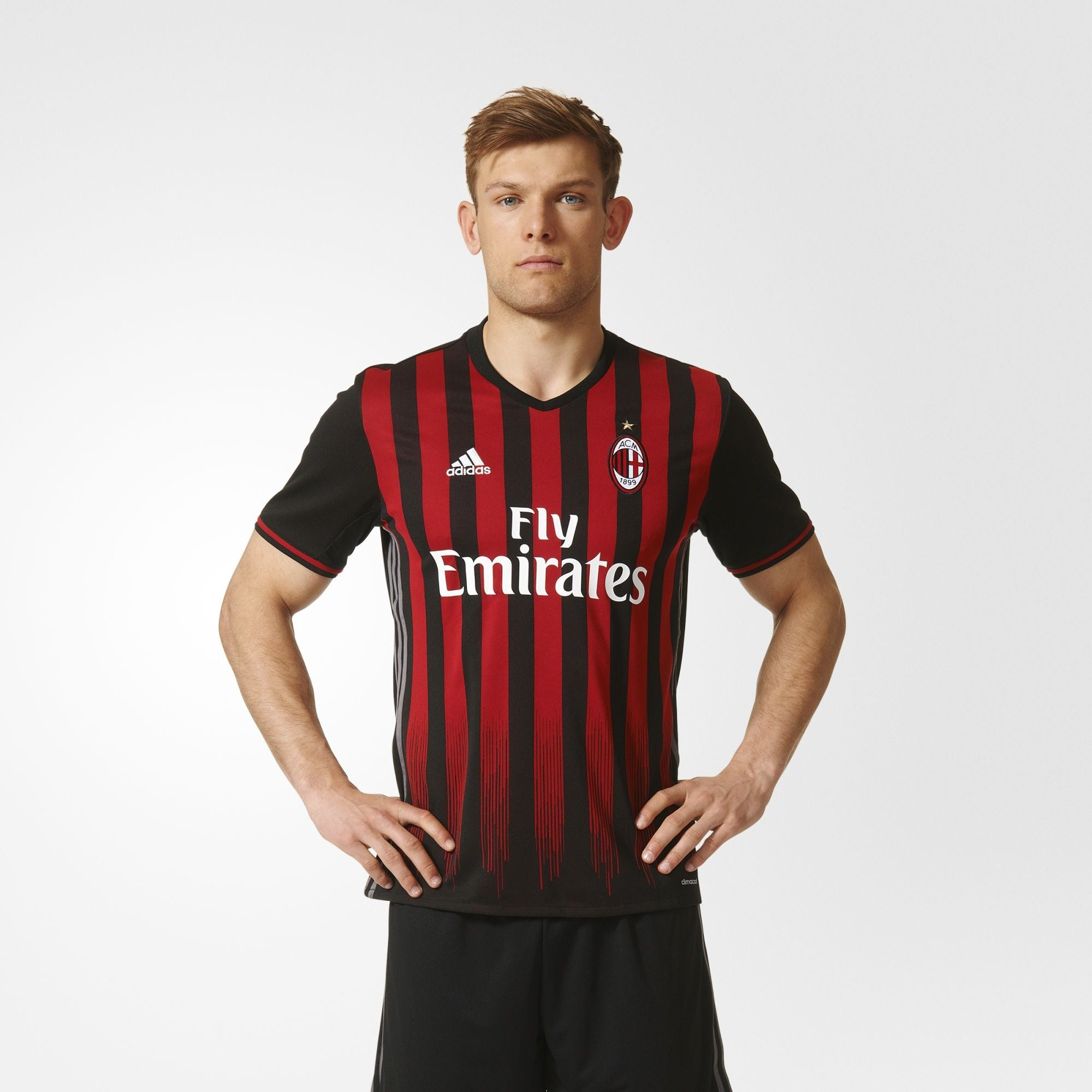 the best attitude 452f4 92657 adidas AC Milan Home Jersey 17