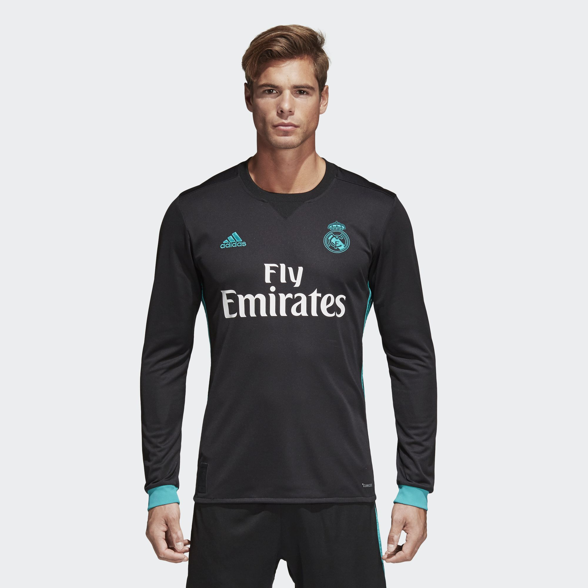 791c05085ce Adidas Men s Real Madrid Away Long Sleeve 2017 18 Replica Jersey