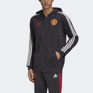 Men's adidas Manchester United 3-Stripes Full-Zip Hoodie